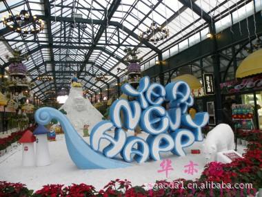 泡沫雕刻制品,圣诞老人,鹿拉车,来图来样定制圣诞节雕塑 雕塑